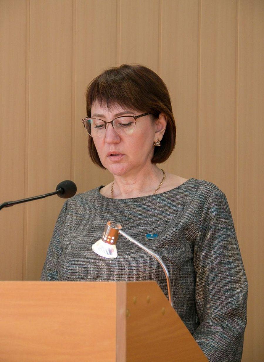 Доклад заместителя главы администрации Татищевского муниципального района Ю.В. Самойловой на собрании актива