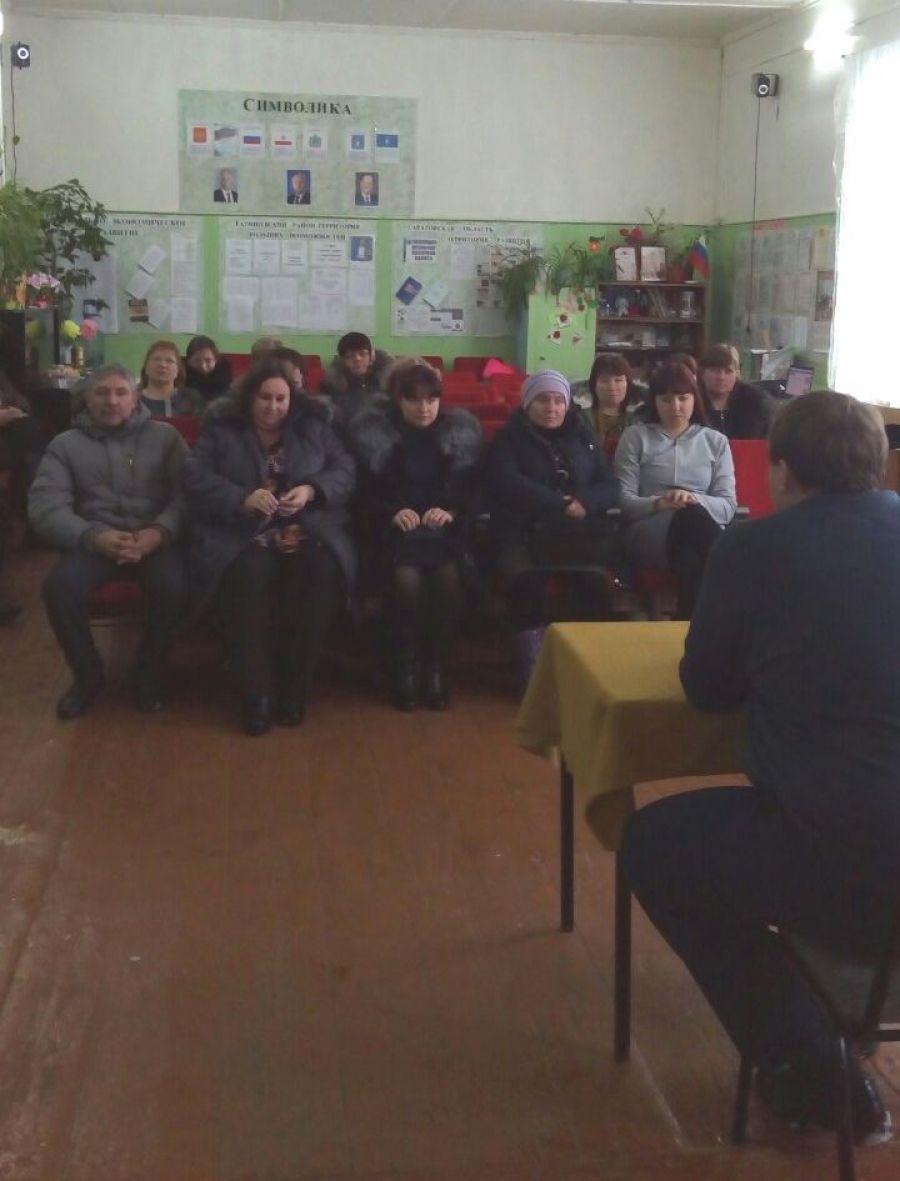 Встречи с населением Октябрьского МО