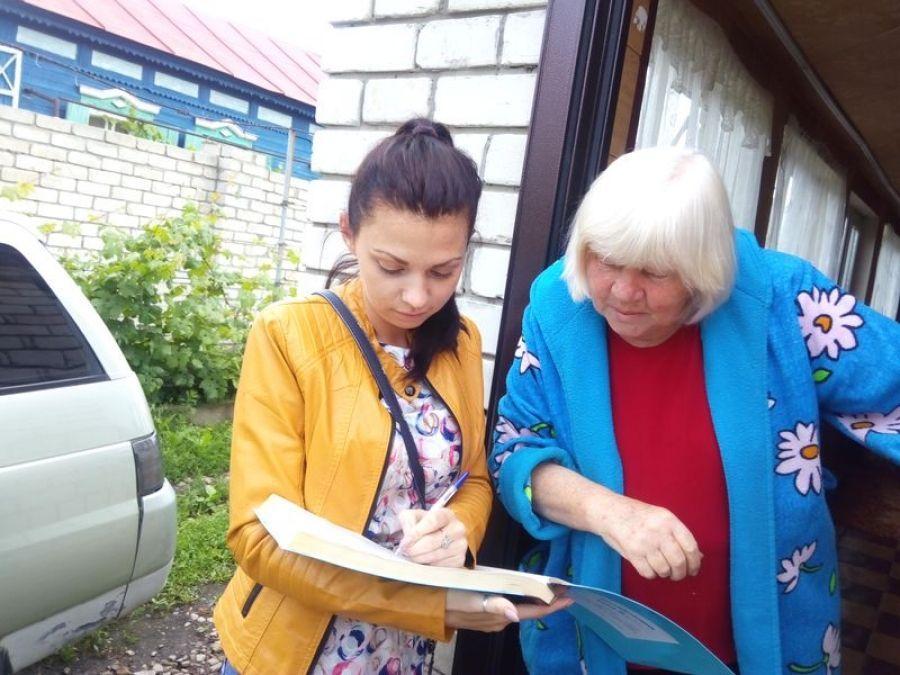 Подворный обход специалистами Вязовского МО