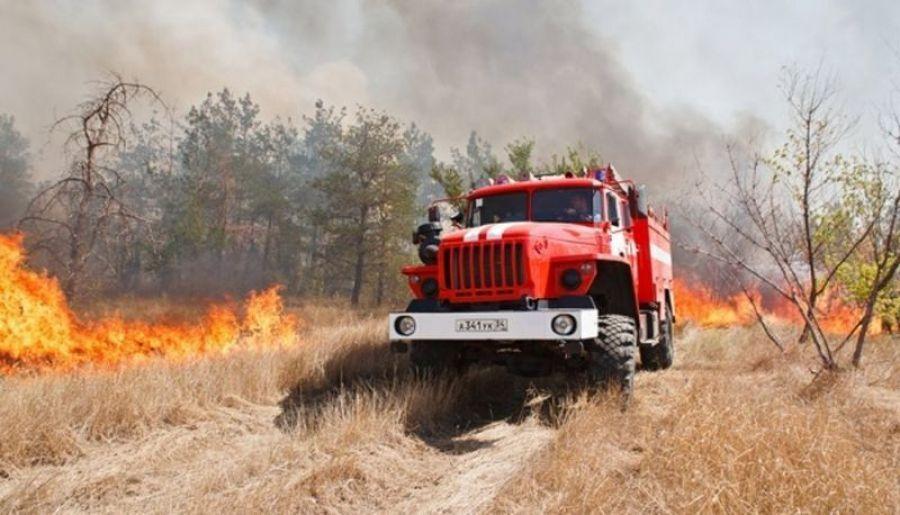 В 15 районах области установлен 4 класс пожарной опасности